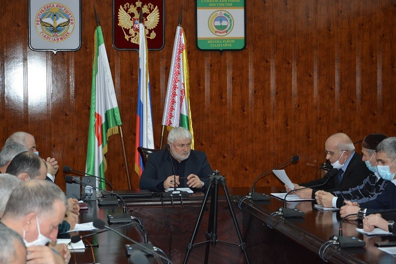 Итоговое заседание комиссии по предупреждению и ликвидации чрезвычайных ситуаций прошло в Сунженском районе