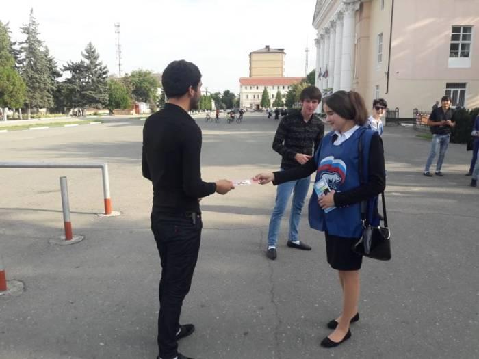 В Сунженском районе волонтеры раздали памятки про рейтинговое голосование