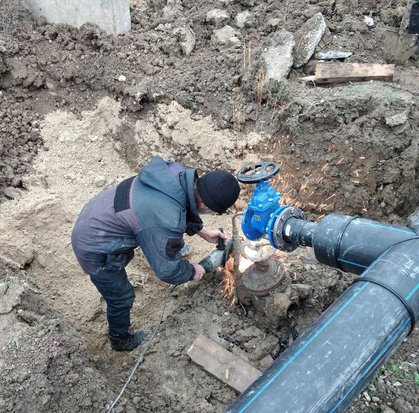 Больше километра нового трубопровода проложили в сельском поселении Галашки